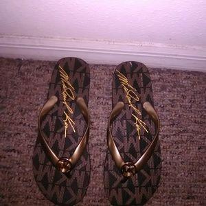 Brown and gold Michael Kors sandles